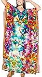 La Leela Women's Plus Size HD Designer Drawstring Caftan Dress Fits L-4X