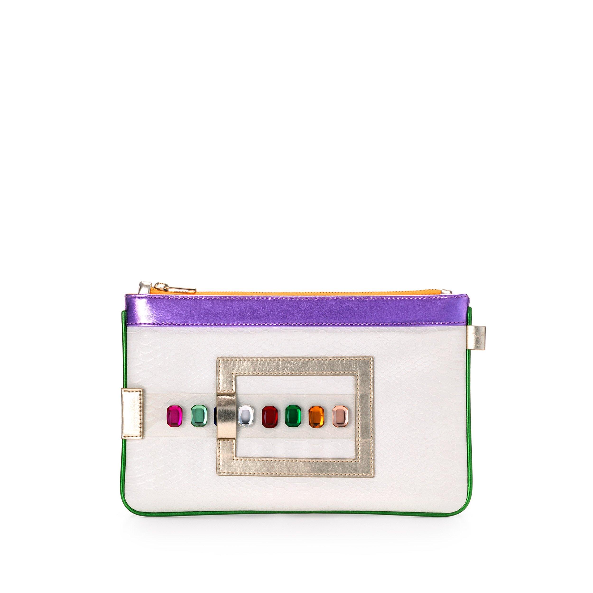 GEMINI Luxury Vegan Bag, Clutch, Purse, Wallet. Multicolored Gems