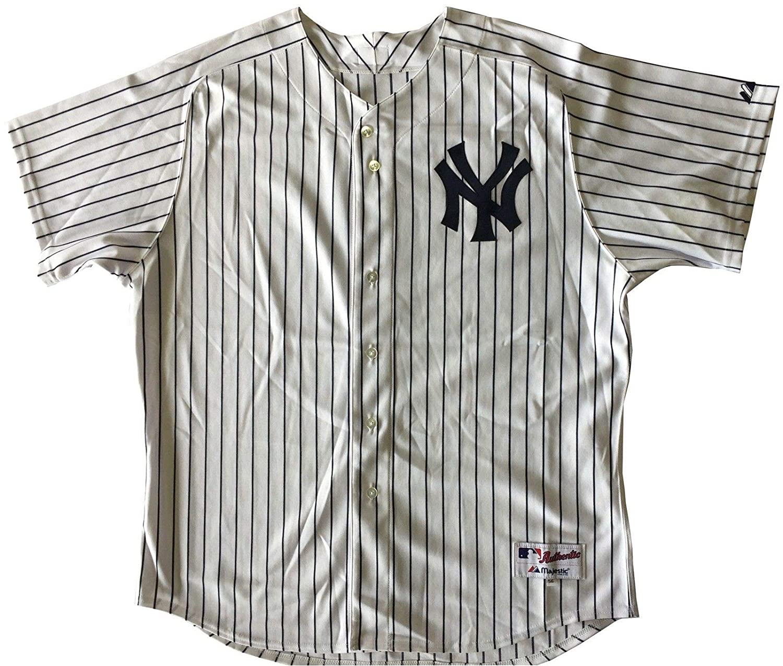 Majestic Men s Derek Jeter Yankees White Authentic Collection Jersey SZ 56  XXXL at Amazon s Sports Collectibles Store ff0c5fa03d1