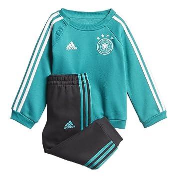25313dcd91404 adidas DFB 3 Stripes Baby Jogger Survêtement Bébé Unisexe S EQT Green s16  Black