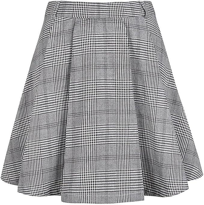 colyanda Classic uniformes escolares Gingham Falda Gris gris L ...