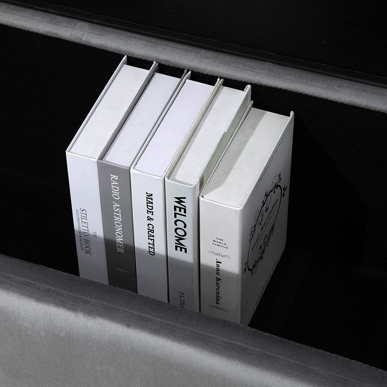 100 x 40 x 42cm homcom Panca Contenitore per Interni con Seduta Imbottita e Piedini Laccati Oro Design Moderno ed Elegante