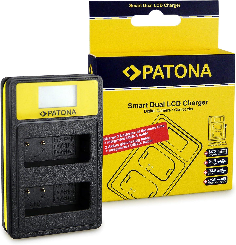 Patona Dual Lcd Ladegerät Kompatibel Mit Panasonic Dmw Blg10 Dmc Gf6 Akkus Mit Usb A Usb