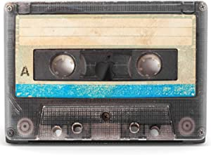Mertak Hard Case for Apple MacBook Pro 16 Air 13 inch Mac 15 Retina 12 11 2020 2019 2018 2017 Shell Black Vintage Cassette Tape Blue Print Laptop 80s Protective Plastic Clear Retro Girl Cover Women