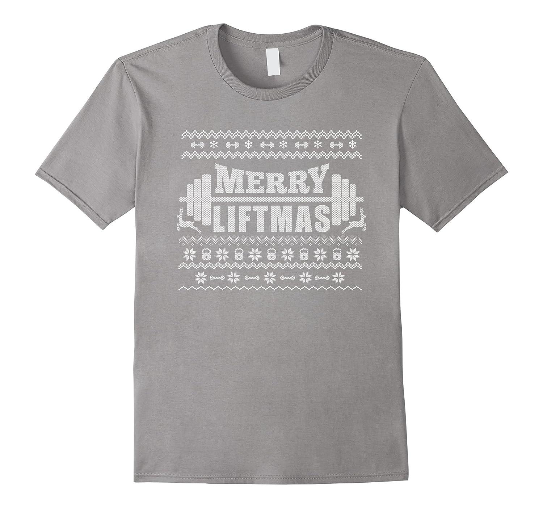 Merry Liftmas T-Shirt Funny Ugly Christmas Workout Tee-ANZ