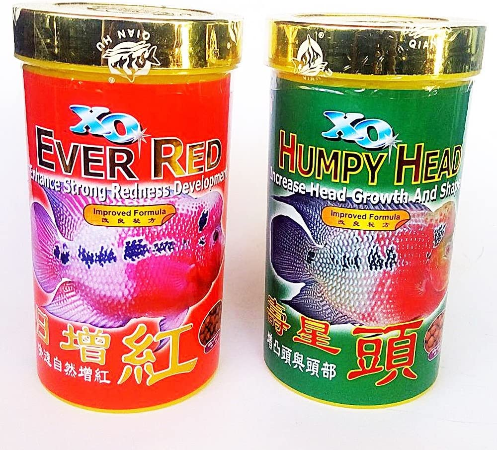 Ocean Free Set 120 g Humpy Head Ever Red Size M Pellets Xo Flowerhorn Fish Food