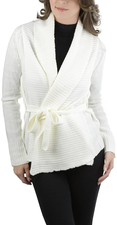 274e0c30235 ToBeInStyle Women's L.S. Knit Acrylic Open Cardigan - Ivory - Medium ...