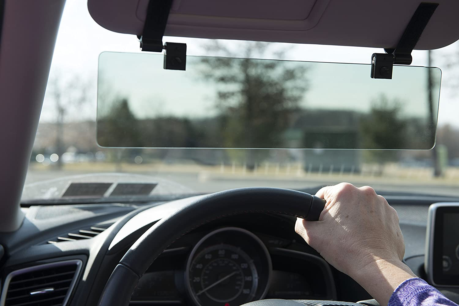Glare Guard Polarized Car Visor Extender – Perfect for drivers who can't use sunglasses