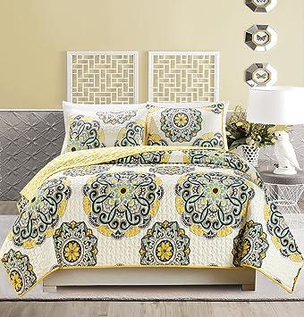 Amazon.com: GrandLinen - Juego de cama de 3 piezas, funda de ...