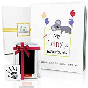 Boy Baby Adoption Gift Set Baby Milestone Cards and Sticker Sheets. Hamper for Adoption Celebration Gift Box Includes Adoption Journal
