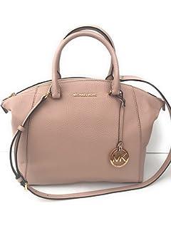 8214484903f9 MICHAEL Michael Kors Riley Large Pebble Leather Satchel Bag - Ballet   Gold