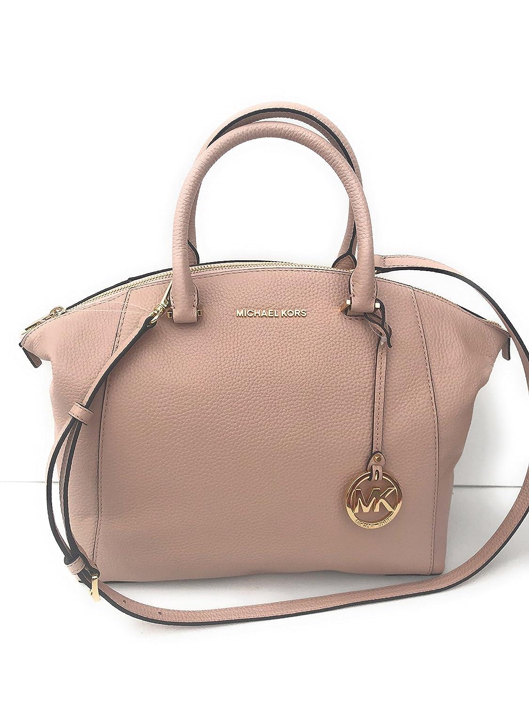 3e3a1bce5fd2 Amazon.com: MICHAEL Michael Kors Riley Large Pebble Leather Satchel Bag -  Ballet / Gold: Shoes