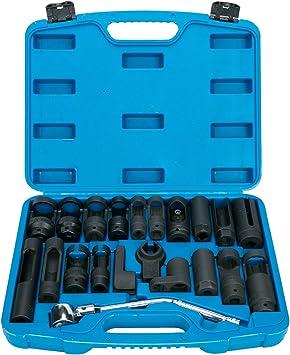 7-tlg Lamdasonde Stecknüsse Nüsse Einspritzdüsen Steckschlüssel Werkzeug Set