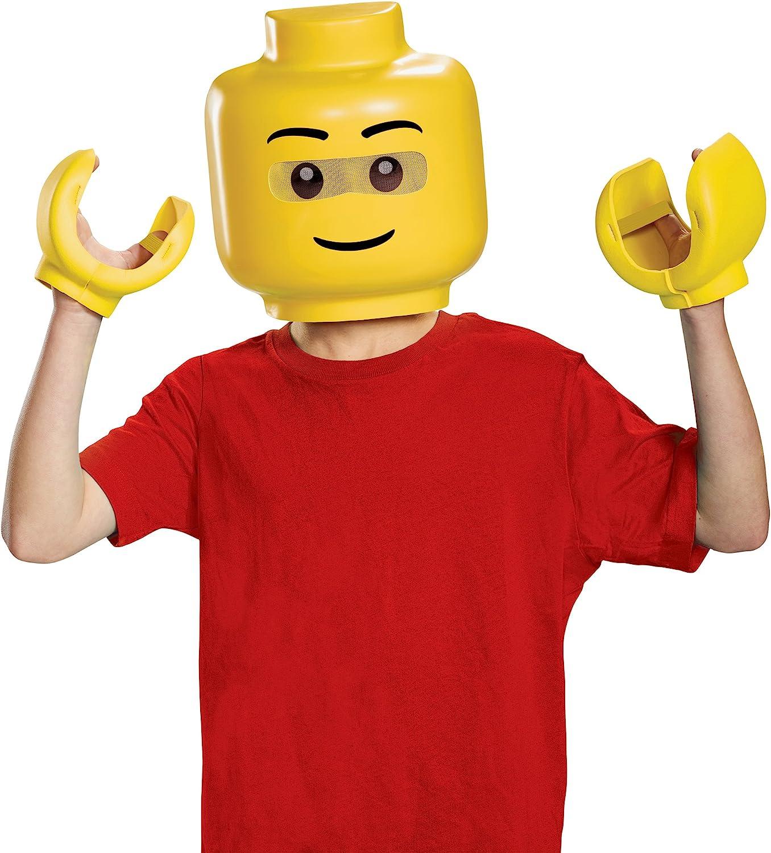 Lego - Figura de máscara y manos con accesorios para disfraz infantil
