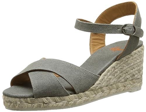 Castaner Blaudell 6, Alpargatas para Mujer, Gris (Piedra), 37 EU: Amazon.es: Zapatos y complementos