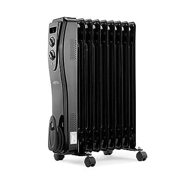 NETTA Radiador con baño de Aceite eléctrica con termostato, 2000W: Amazon.es: Hogar