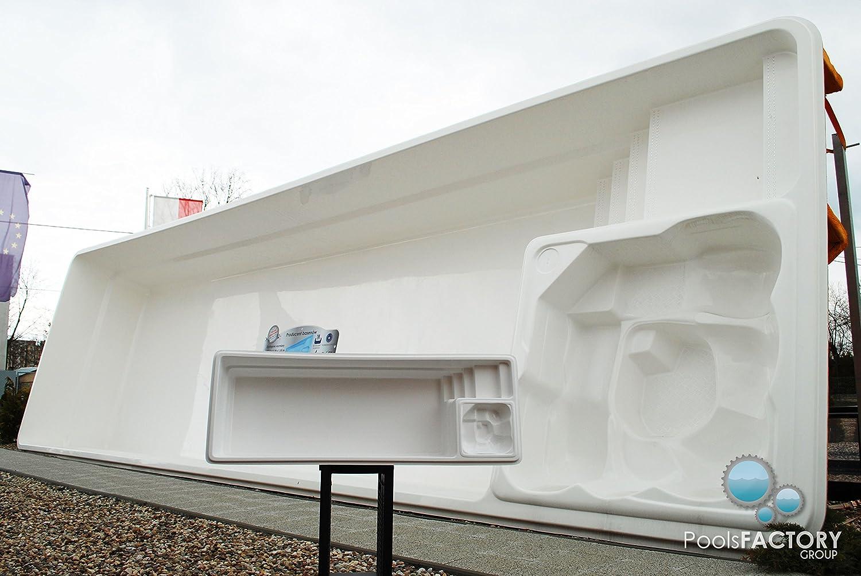 Piscina grande de plástico reforzado de vidrio con molde en ...