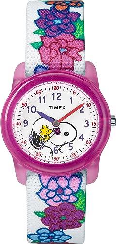 Timex Reloj Aprende la Hora para Niñas de Cuarzo con Correa en Nailon TW2R41700: Amazon.es: Relojes