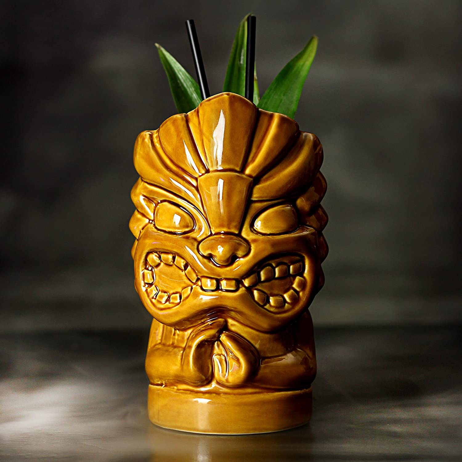 bar@drinkstuff Tiki Hands Mug 27.5oz/780ml - Novelty Ceramic Hawaiian Themed Cup for Cocktails and Luau Parties