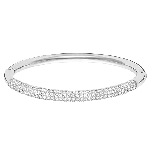8f68142180d7be Swarovski Stone Brazalete, Blanco, baño de rodio: Amazon.it: Gioielli