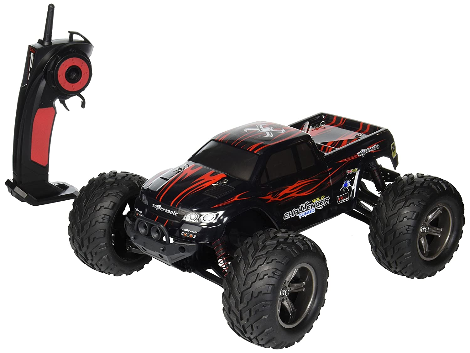 AMOSTING S911 35MPH 1/12 Scale 2.4GHz Remote Control Monster Truck - Red by AMOSTING: Amazon.es: Juguetes y juegos