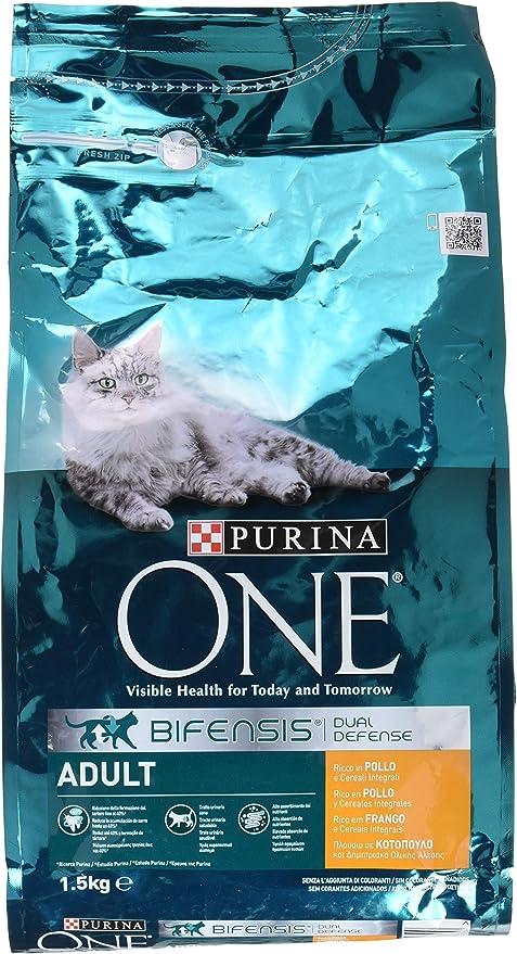 PURINA ONE Bifensis Pienso para Gato Adulto Pollo y Cereales 6 x 1 ...