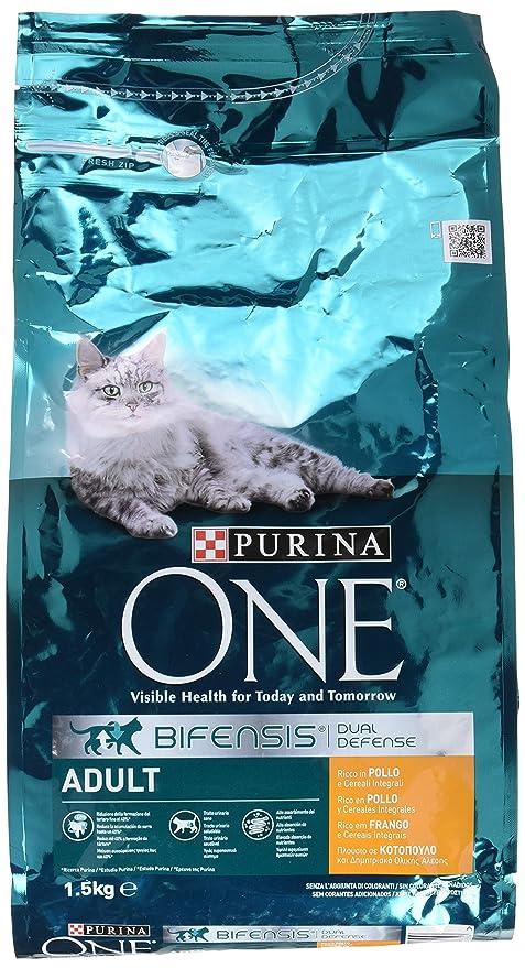 Purina ONE Bifensis Pienso para Gato Adulto Pollo y Cereales 6 x 1,5 Kg