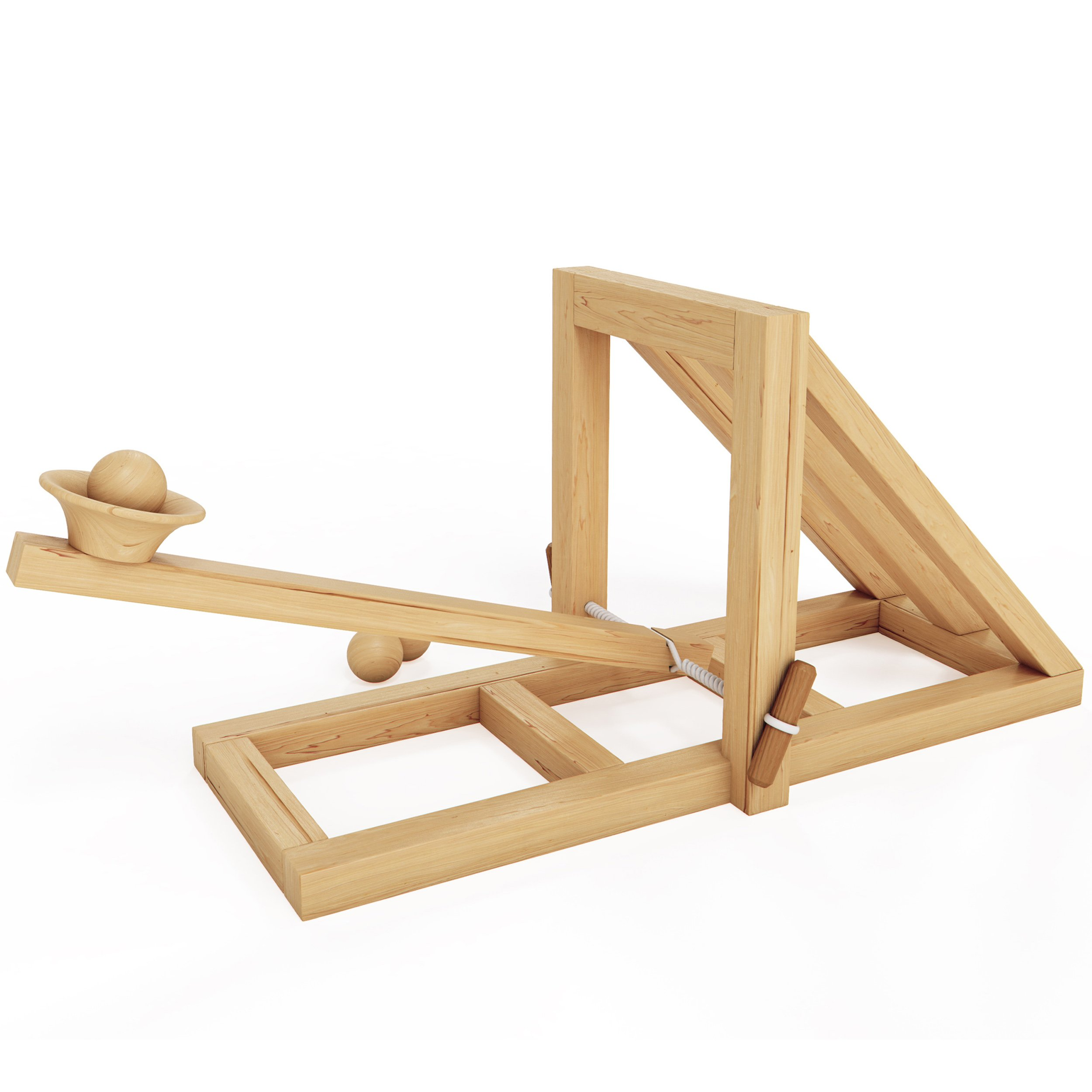 MOTA Catapult – Educational Desktop Battle Kit – Easy to Build Wooden Toy Kit for all Ages