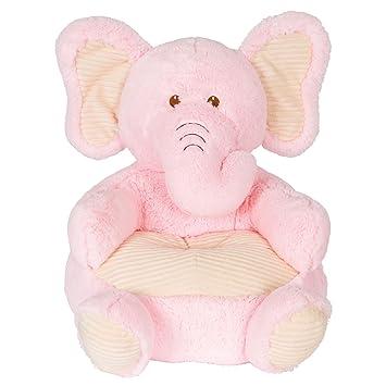 Kellytoy Baby Soft Plush Pink Elephant Childrens Chair With Corduroy Trim18
