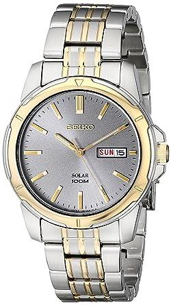 Sne098p9 Datum Edelstahl Klassisch Mit Seiko Solar Herren Uhr Armband 8wnPOk0X