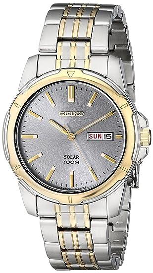 Seiko Reloj Analogico para Hombre de Energía Solar con Correa en Acero Inoxidable SNE098P9