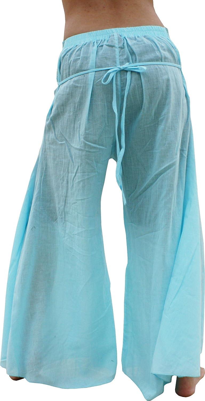 RaanPahMuang Flared Light Soft Gauze Cotton Tribal Bellydance Pants variant41010AMZ