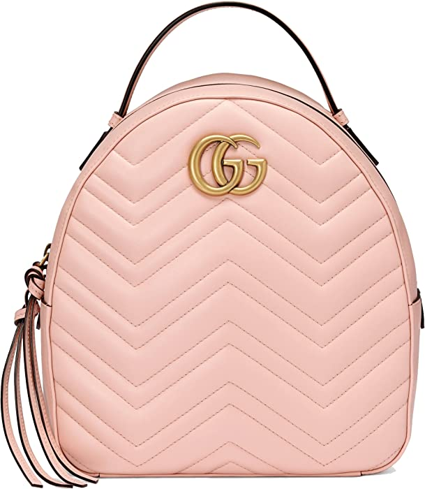 Gucci Women\u0027s 476671DTDHT5909 Pink Leather Backpack Amazon