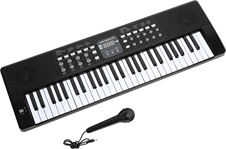 Axman LP5450- Teclado/keyboard con micrófono y conector de alimentación