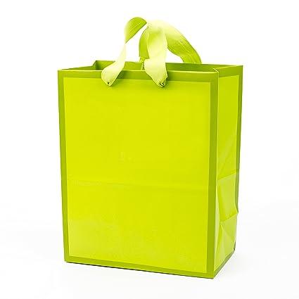 Amazon Com Hallmark Medium Gift Bag Neon Green Kitchen Dining