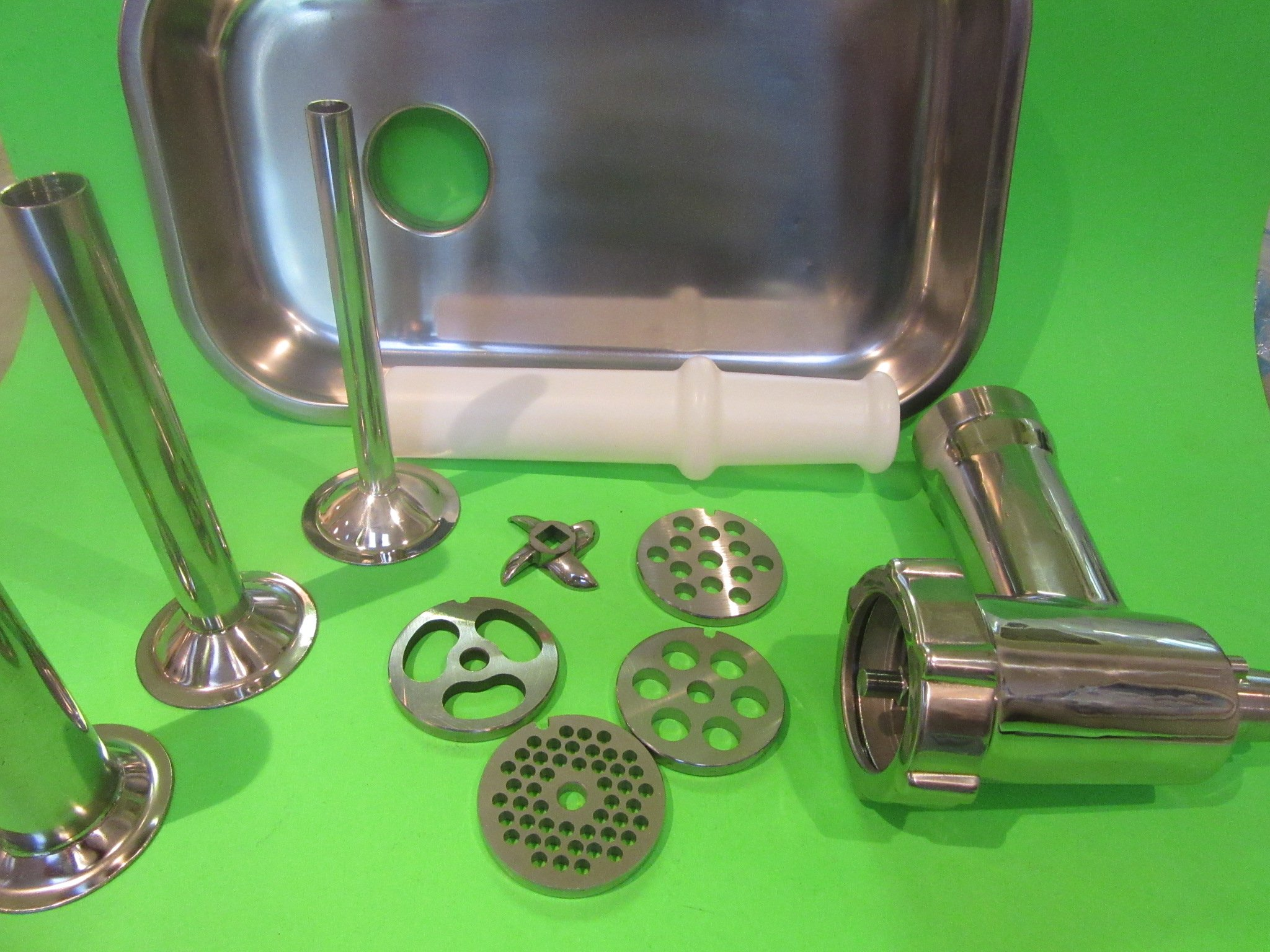 Original Stainless Steel Meat Grinder for Kitchenaid Mixer with Sausage Making Kit by Smokehouse Chef (Image #8)
