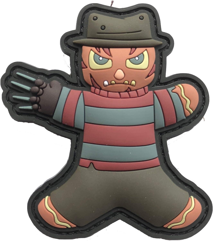 TACOPSGEAR Gingerbread Lebkuchenmann Pinhead Killer Maske Horror Helloween Patch