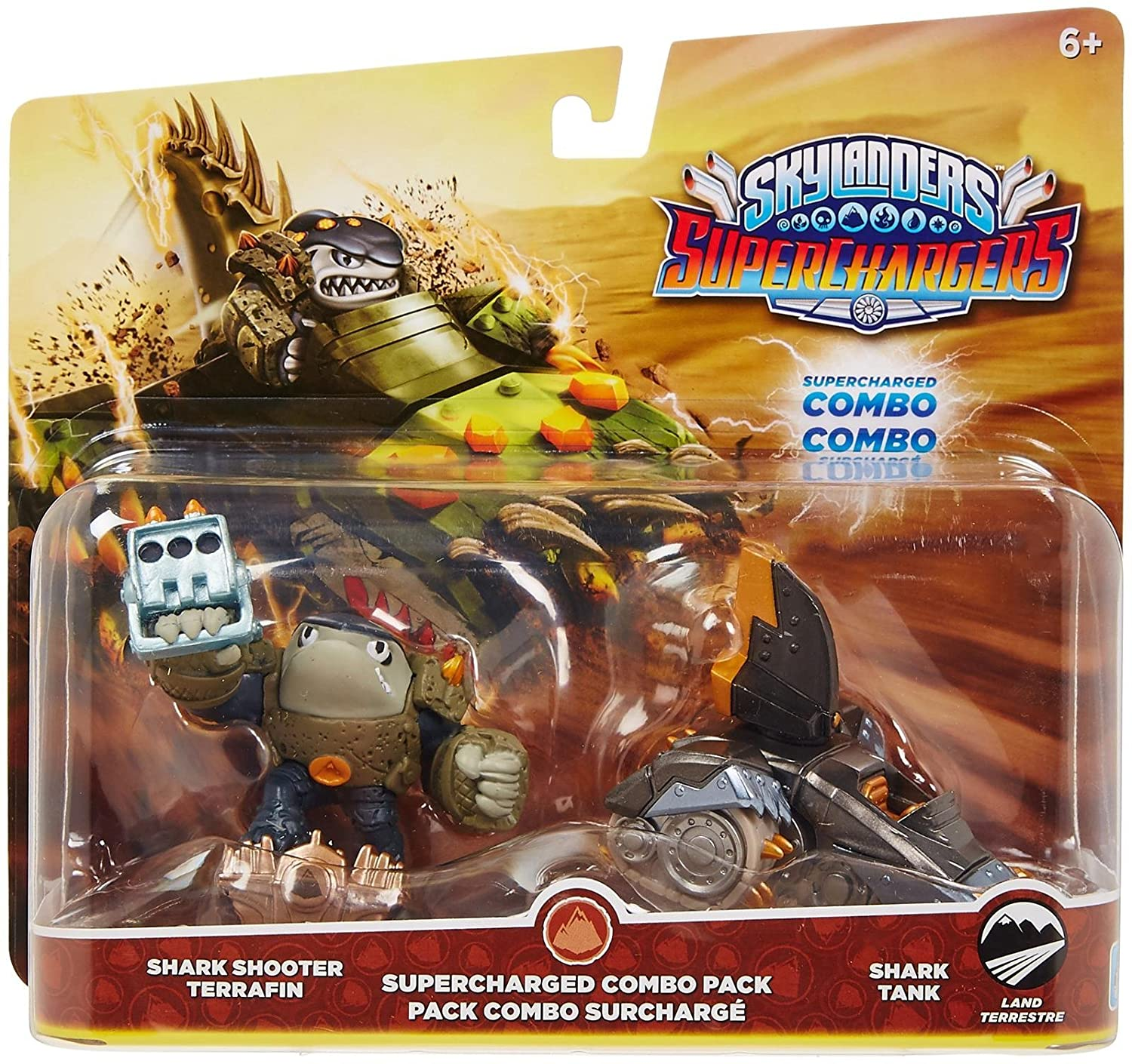 Skylanders SuperChargers Dual Pack #1: Shark Shooter Terrafin and Shark Tank