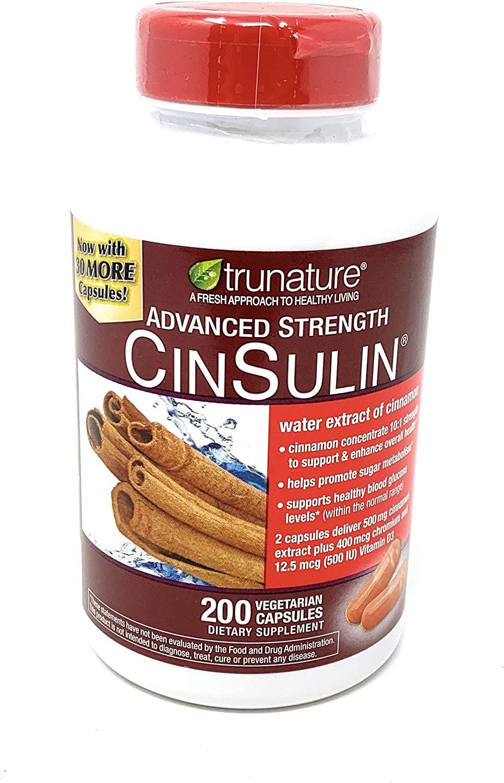 Trunature Advanced Strength Cinsulin 200 Capsules