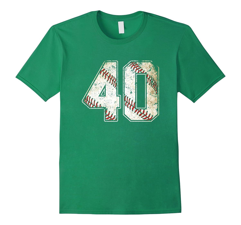 #40 Baseball Jersey Number 40 Retro Vintage T-Shirt-T-Shirt