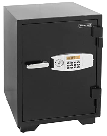 Honeywell Safes Door Locks – 2116 Steel 2 Hour Fireproof and Water Resistant Security Safe with Dual Digital Lock and Key Protection, 2.35-Cubic Feet, Black