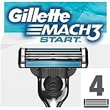 Gillette Mach3 Start Lamette per Rasoio da Uomo, 4 Testine