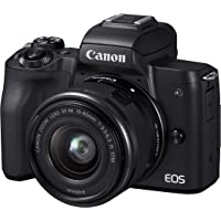 CanonEOS M50 Single Digital Camera Kit with EF-M 15-45mm IS STM, Camera Assist, Black (Australian warranty)