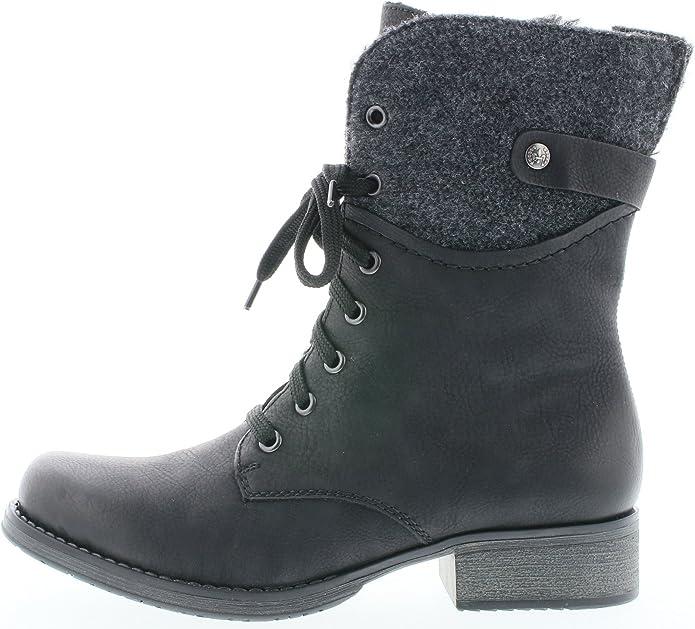 Rieker Y9704 Damen Stiefel, Stiefelette, Schnürstiefel, Boot XzrB5