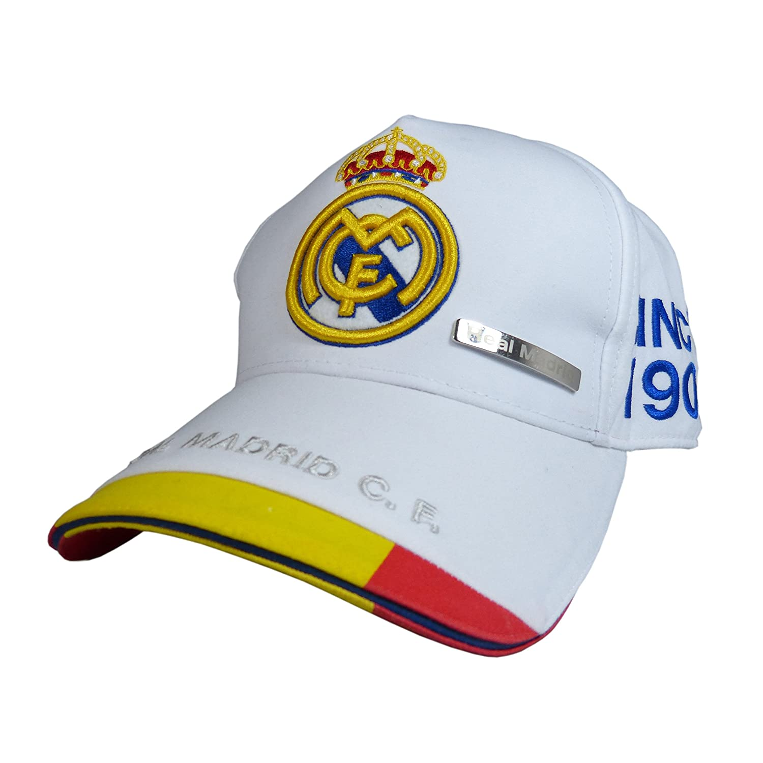 GORRA OFICIAL - REAL MADRID - BLANCO ESPAÑA ADULTO COTTON LIKE ...