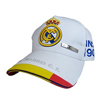 GORRA OFICIAL - REAL MADRID - BLANCO ESPAÑA ADULTO COTTON LIKE: Amazon.es: Deportes y aire libre