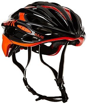 Kask - Mojito 16 - Casco para bicicleta, Adultos , Negro/Naranja, M
