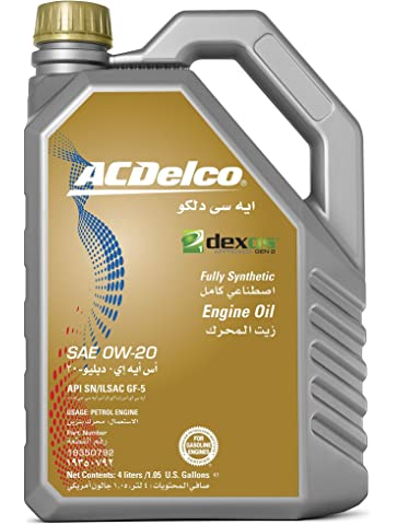 ACDelco Fully Synthethic Engine Oil SAE 0W-20 DEXOS1 4L