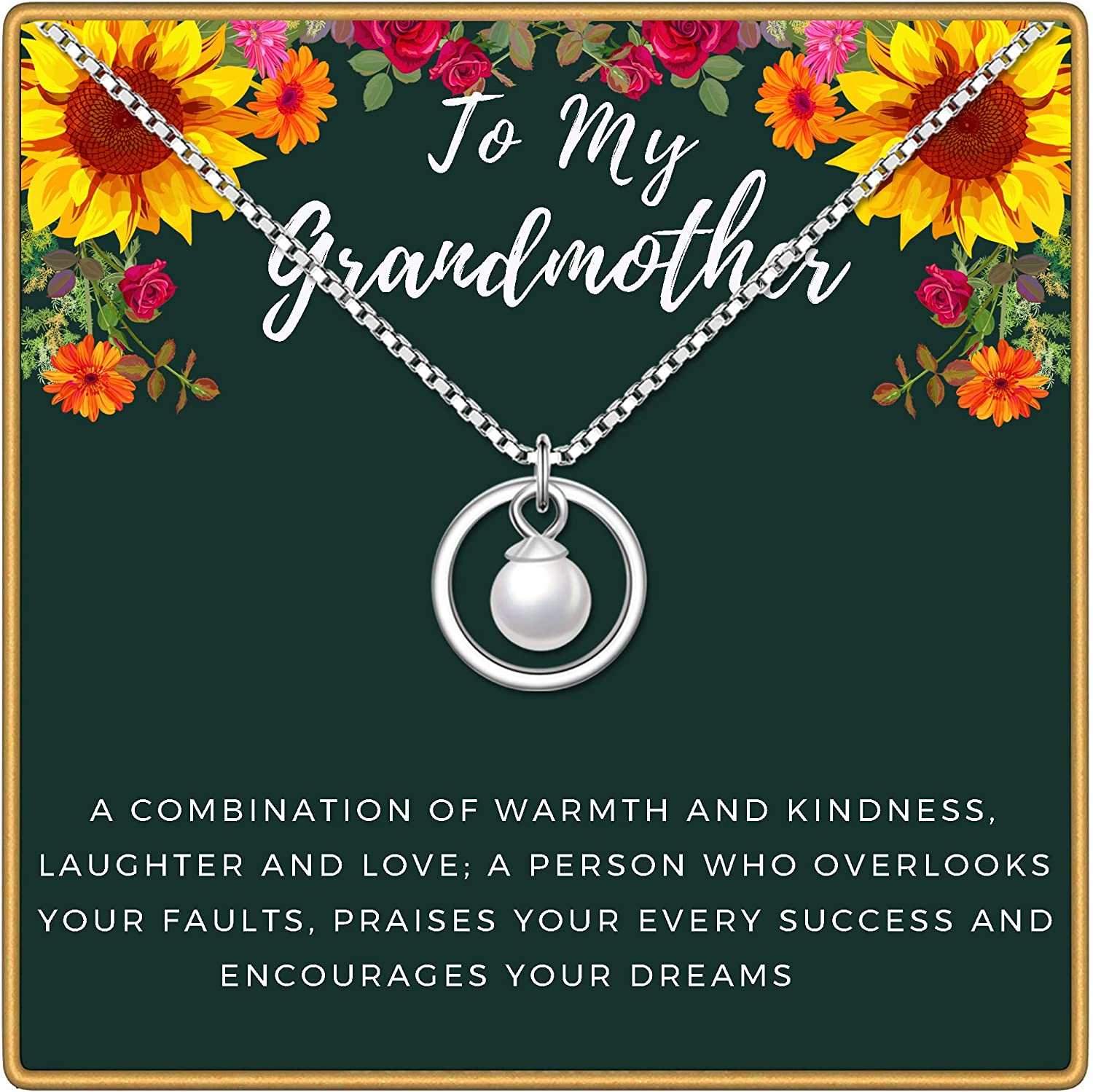 YENMILL Daughter Necklace 925 Sterling Silver Double Ring Pendant Necklace Birthday Gift