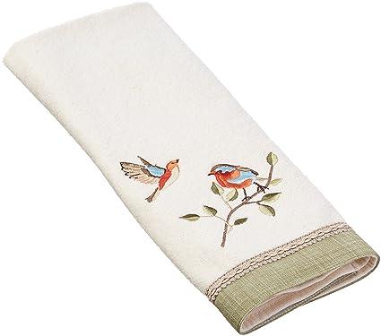 Avanti Linens 038392ivr pájaro Coro toalla de mano, tamaño mediano, color marfil
